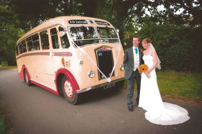 Vintage coach wedding transport in Norfolk from Eastons Vintage Coach Hire